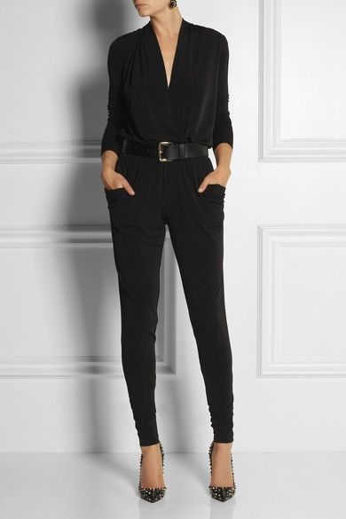 MICHAEL Michael Kors jersey jumpsuit found on net a porter $150 - navy handbags, black wallet purse, big handbags online *ad
