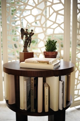 Love this side table and leather cutout screen. Also from the 2011 DC Design House.