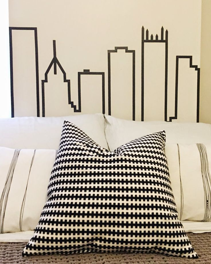 PERFECT for dorm rooms! Make a washi tape headboard!