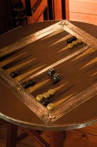Creative Company | Pewter it – Backgammon table