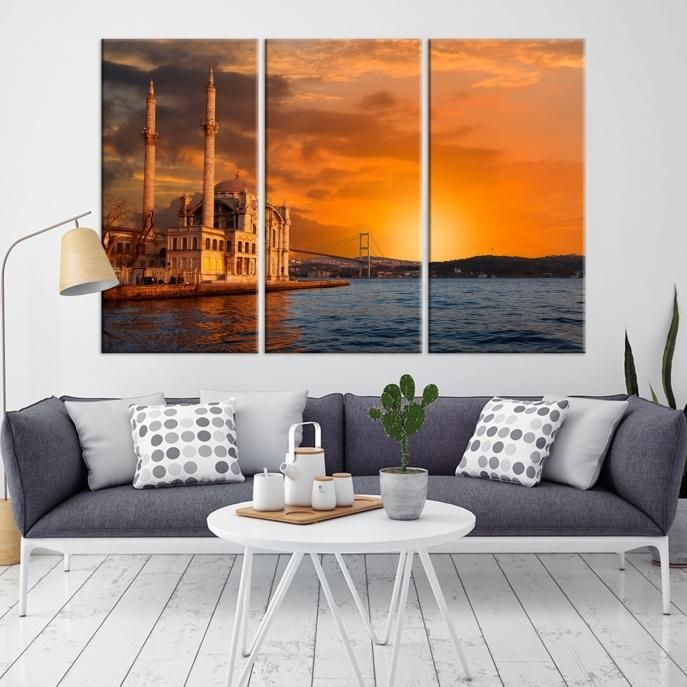 13399 – Large Wall Art Turkey Istanbul Skyline Canvas Print