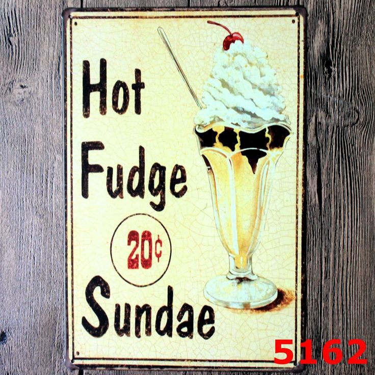 Cupcakes 20c Sundae Burger Ice Cold Beer Tropical Bar Hot Dog Vintage Mental Art Signage Decor  Resellers welcome. Subcribe to our mailing list for updates on new items.  Promote our products and earn same day commissions: spree.to/?u=14mq