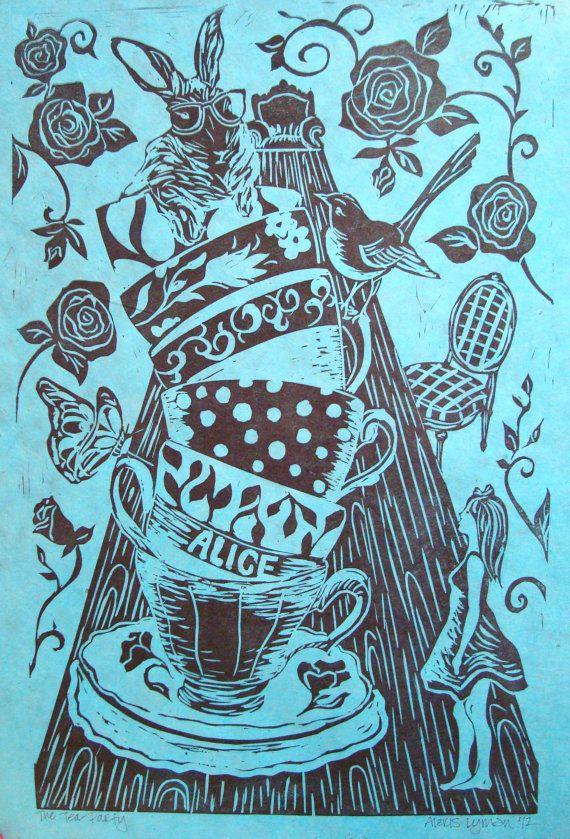 Alice in Wonderland Tea Party large print by AlexisLymanPrints, $35.00
