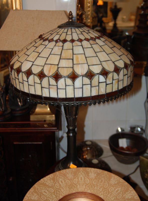 Witrażowa lampa Tiffany