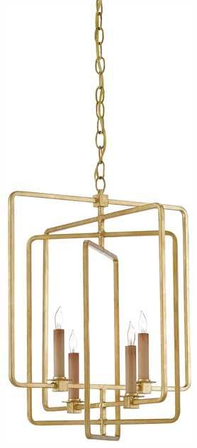 Metro Square Chandelier From Currey Company