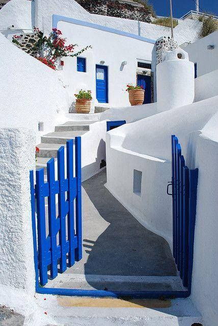 White and Blue of the Cycladic islands , Greece