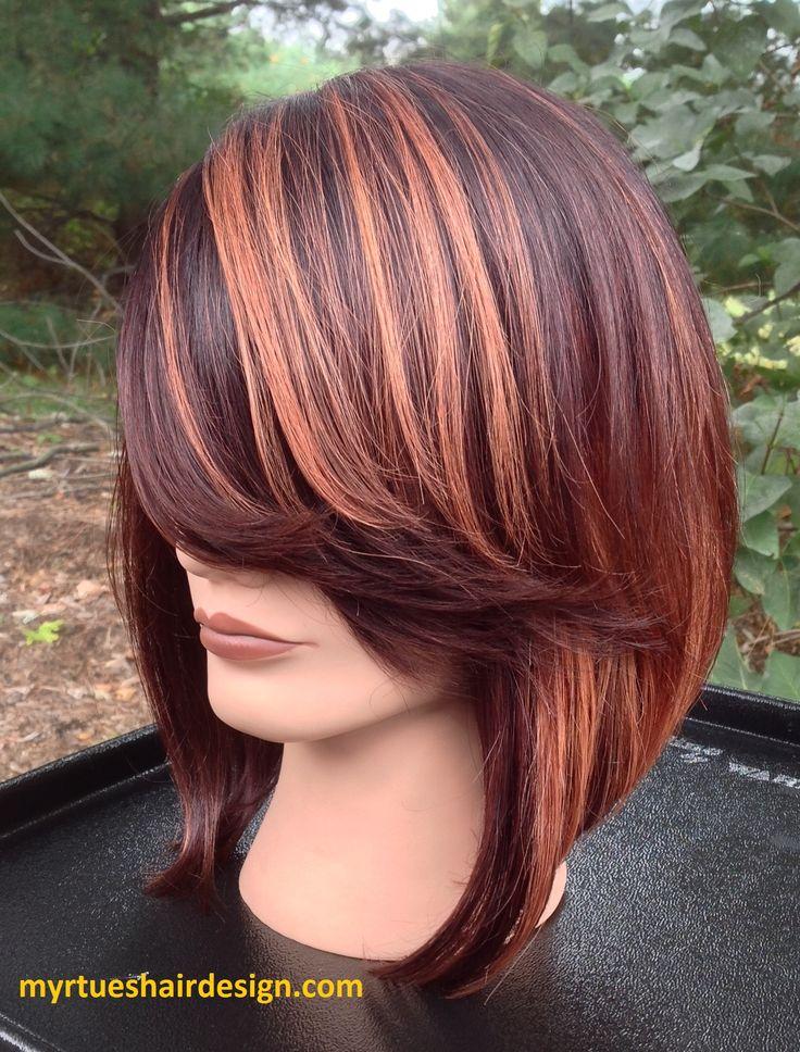 (myrtueshairdesign.com) Hair color done with block color technique.