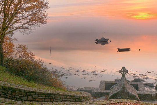 Saint-Cado, rivière d'Etel, Morbihan.  Bretagne.