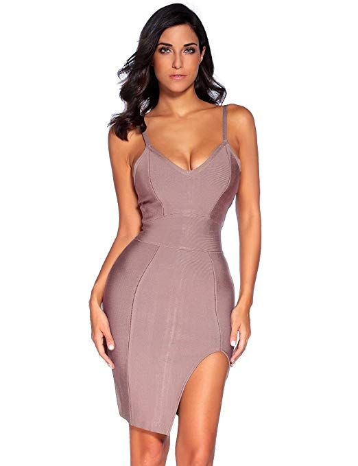 6f06edf4b157 Meilun Womens Deep V Neck Strappy Splitting Club Party Bandage Dress #Club  & Night Out, #Dresses, #Clothing, #Women, #Clothing, Shoes & Jewelry,