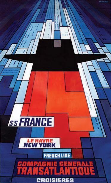 bateau - SS France - Le Havre. New York - French Line - Compagnie Générale Transatlantique - croisières -