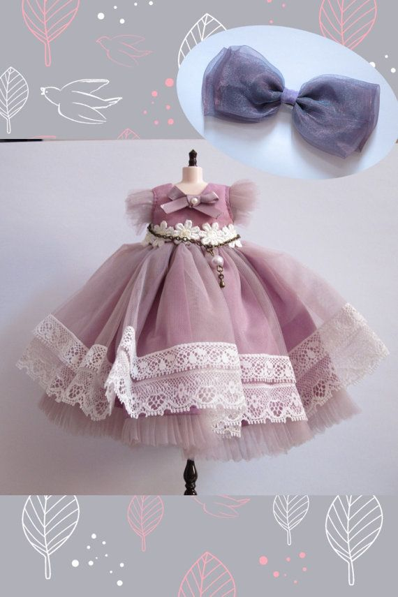 Blythe Purple With White Lace Princess 1 Piece & by MoonLoveLover