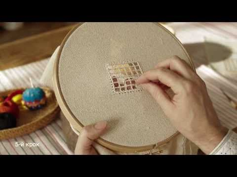 Hardanger  embroidery. - YouTube