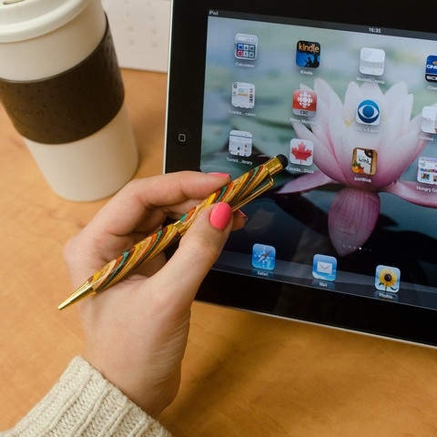 Canadian-made wood pen & stylus