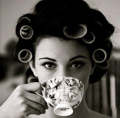 tea: Hair Rollers, Teas Time, Teas Cups, Beautiful, Cups Of Teas, Curls, Drinks Teas, Teacups, Photo