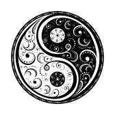 Yin Yang Symbol vector illustration. EPS8, all parts closed ...