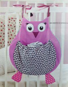 tuto range pyjama chouette réalisé par Catherine Martini pour le magazine Passion couture Hors série enfant n°3