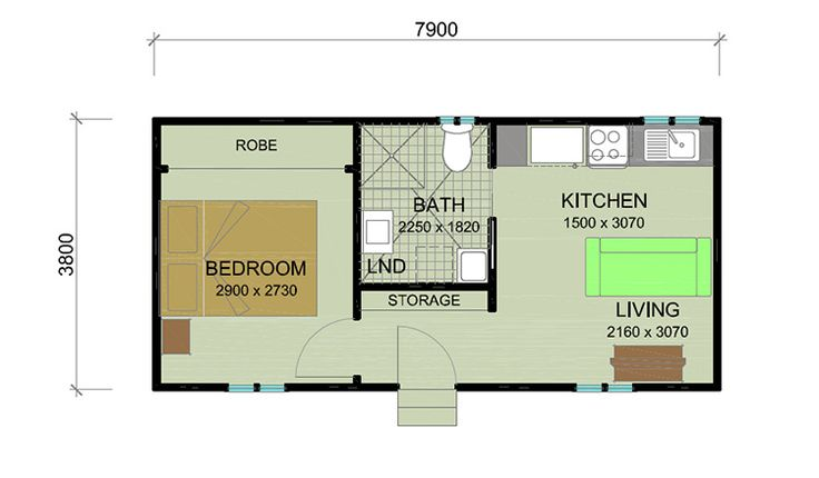 Floorplan bottle brush 1 bedroom granny flat granny Granny cottage plans
