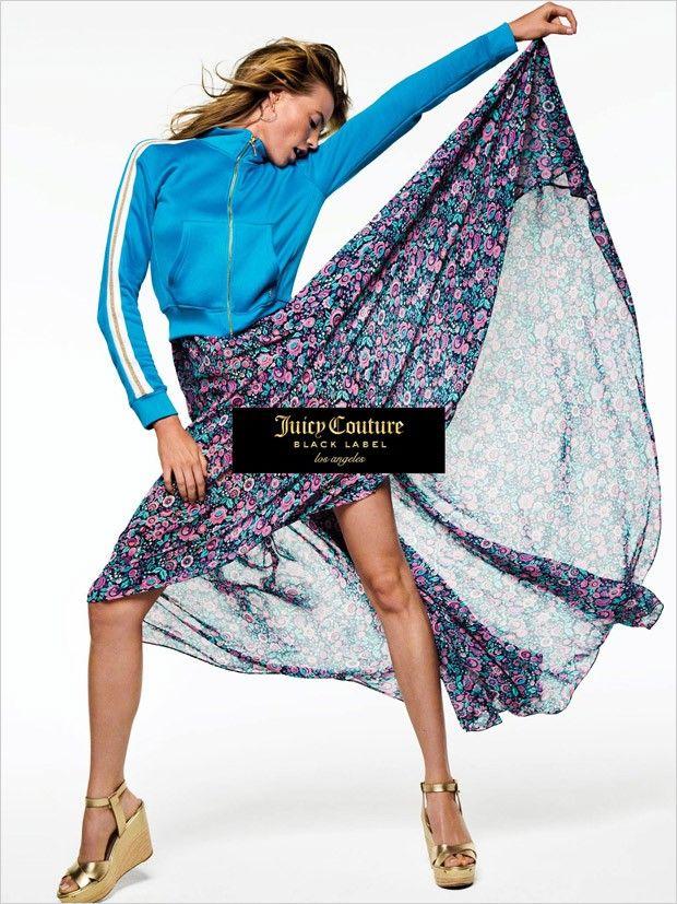 Кэндис Свэйнпоул и Бехати Принслу в рекламе Juicy Couture Black Label (Интернет-журнал ETODAY)
