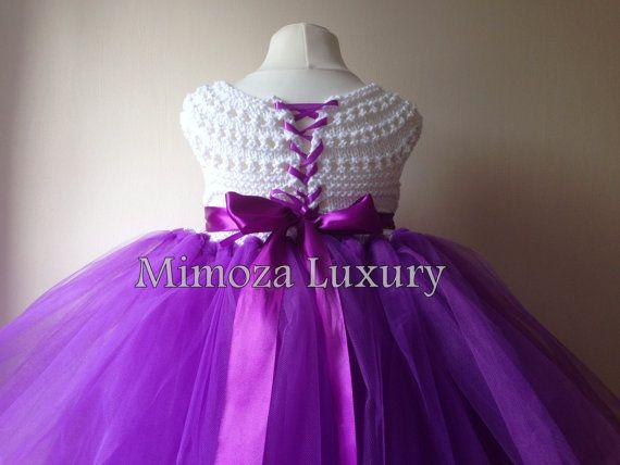 Flor vestido de la muchacha vestido del tutú por MimozaLuxury