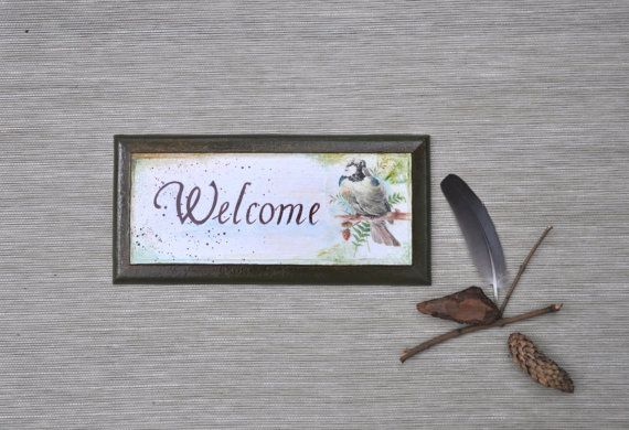 Front door sign, hanging board, Welcome wall hanging, wall decoration, front door sign, housewarming gift.