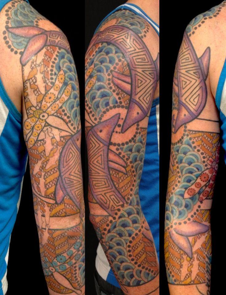 Australian Aboriginal style tattoos tatulu.com