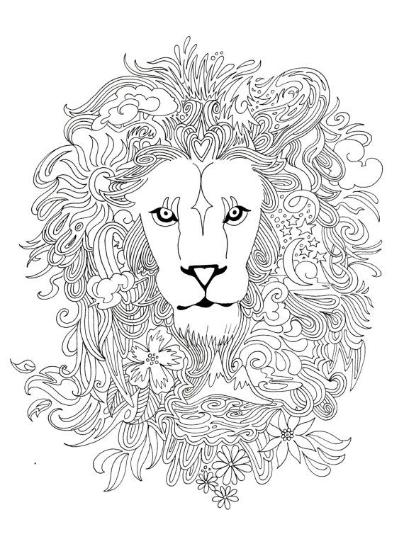 archival print from one of my drawings signed and dated on the front smooth paper is great for coloring with marker or colored pencil - Coloring Pages Tigers Print