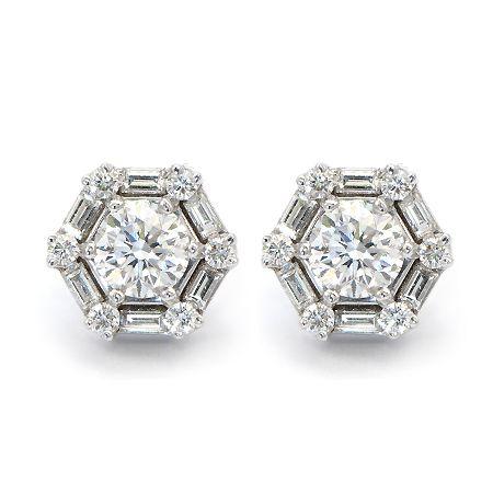 Fancy Yellow Diamond Studs with Diamond Halo | Wixon Jewelers