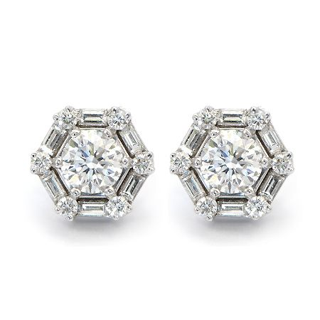 Fancy Yellow Diamond Studs with Diamond Halo | Wixon Jewelers