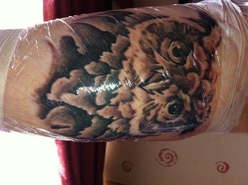 Tatuagens criativas de corujas (118)