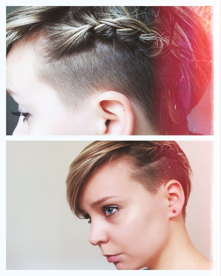 shape hair styles braided pixie with undercut and no make up 8694