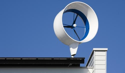 Wind generator for residential use. http://calgary.isgreen.ca/category/food-and-drink/smoothies/