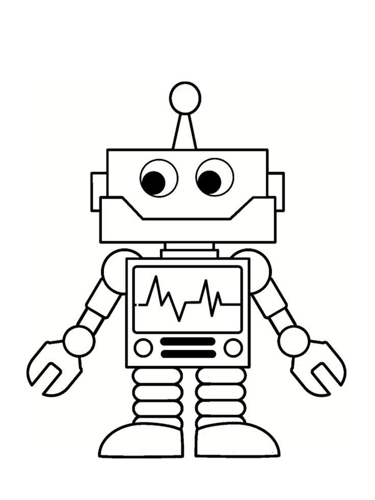 Robot Coloring 30 Drawings To Print For Free Coloring Drawings