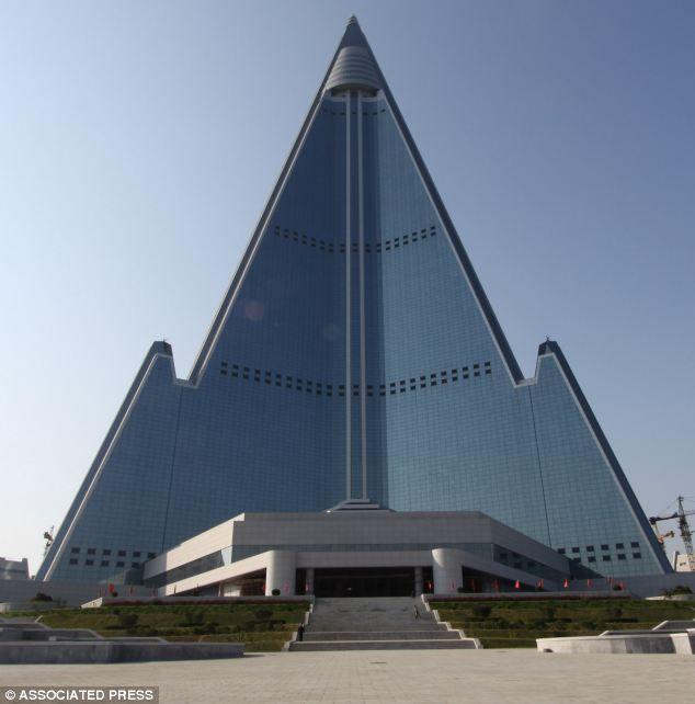 105 story Pyramid Ryugyong Hotel  in Pyongyang