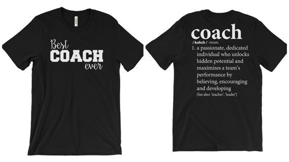 Gift for Coach Shirt 2-Sided | Assistant Coach's Gift | Basketball Coach, Soccer Coach, Football Coach, Baseball Coach, Softball Coach