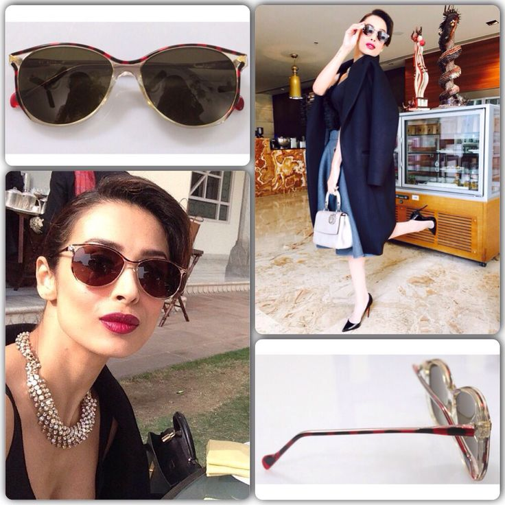 How beautiful does Malaika Arora Khan look in our vintage sunglasses for the Dolly ki Doli promotions! Love