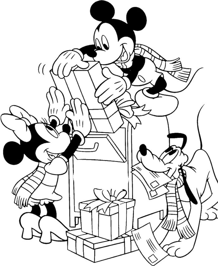 Disney Mickey Mouse Christmas Coloring Pages 35