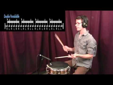 Drum Tutorial| Paradiddle, Double Paradiddle, Triple Paradiddle, and Single Paradiddle-diddle - YouTube