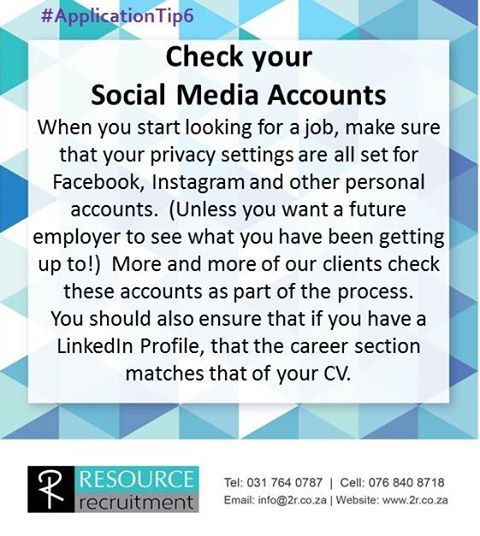 For more #TuesdayTips visit our website www.2r.co.za #RESOURCErecruitment