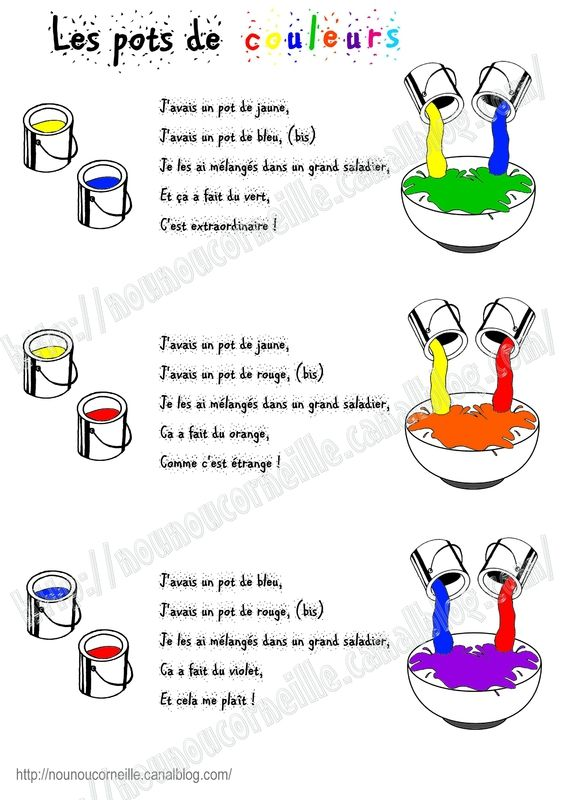 Les pots de couleurs - Les couleurs en français - mixing up colors in French!