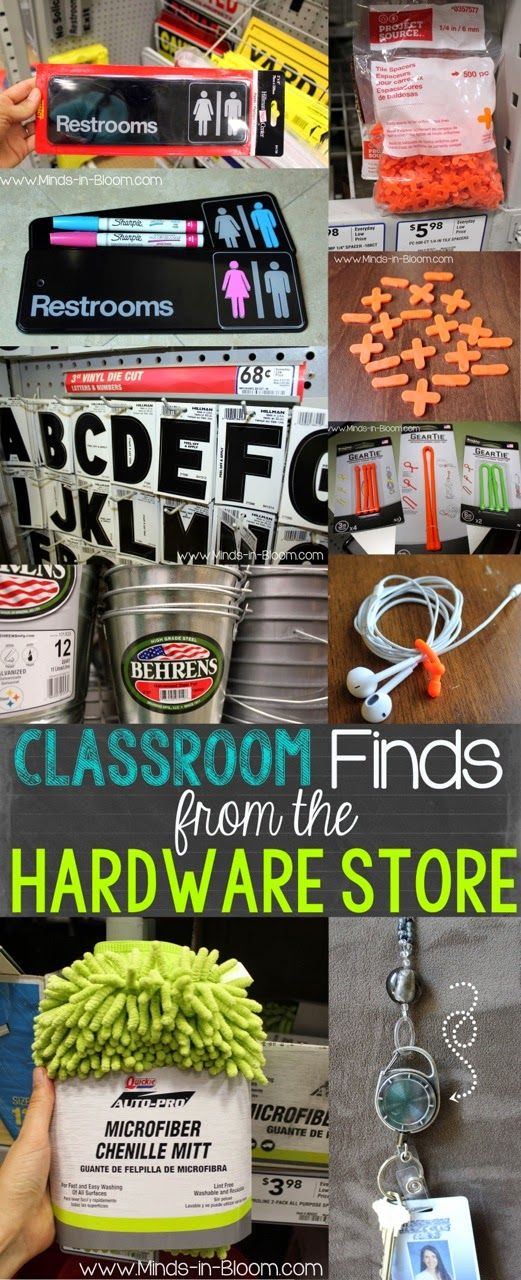 Classroom Finds from the Hardware Store - such fun ideas!