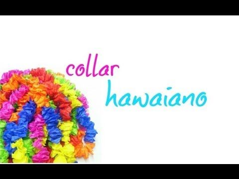 aprende hacer un collar hawaiano!(: ❤☀ - YouTube
