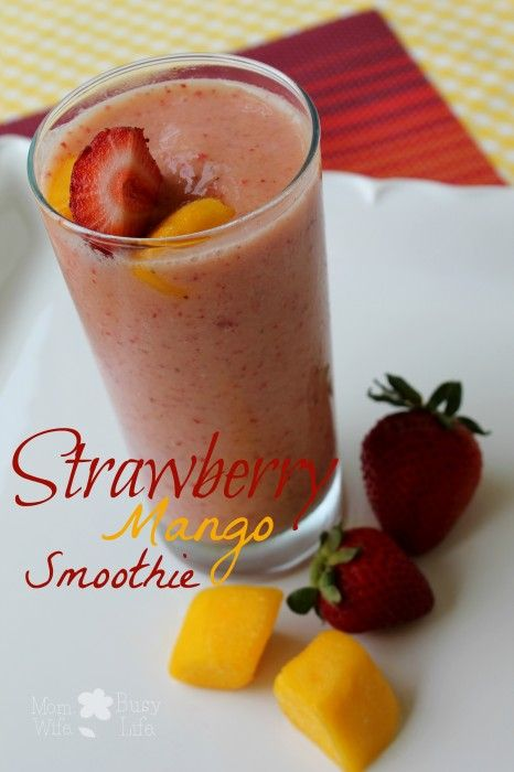 #Strawberry #Mango Smoothie Recipe - #smoothies