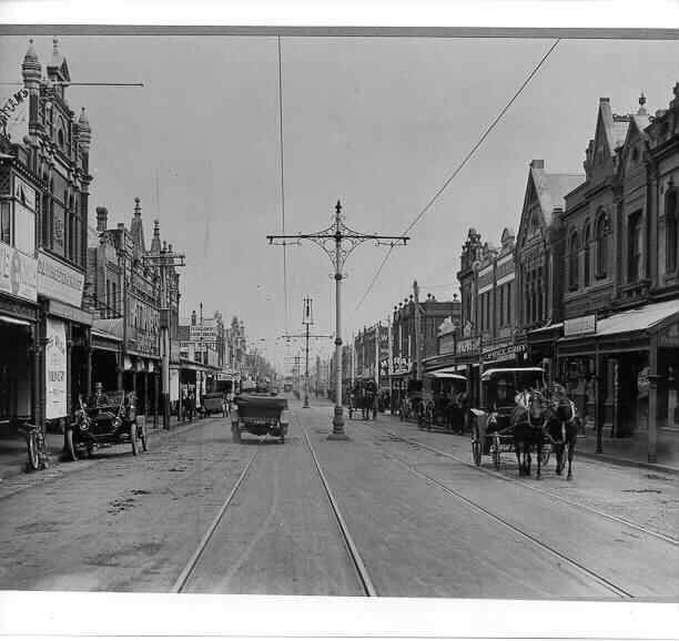 Melbourne, Glenferrie Road looking south, 1915. Victoria. History