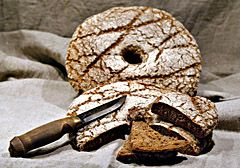 ruisleipä - Bread is the thing which keeps the wheels rolling. And the man on the road ! Finnish rye bread is lovely!