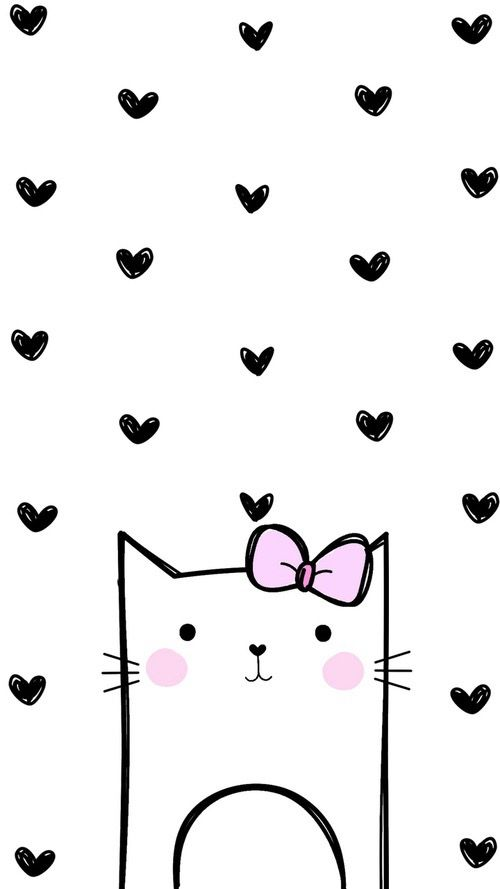 Wallpaper - Gatita enamorada                                                                                                                                                                                 Mais