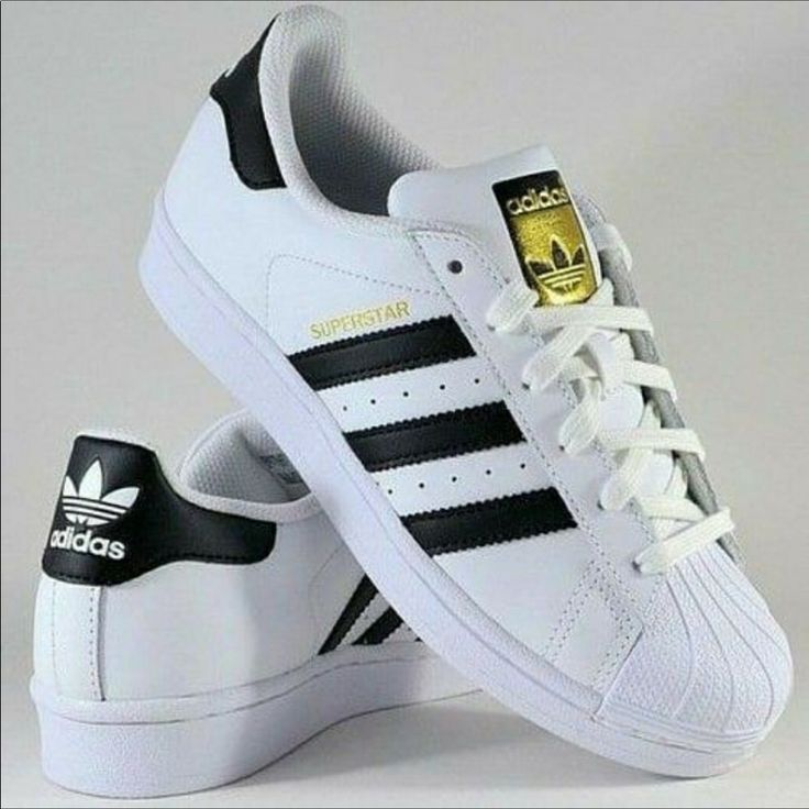 adidas Shoes | Adidas Superstar White & Black Sneakers | Color: Black/White | Si…