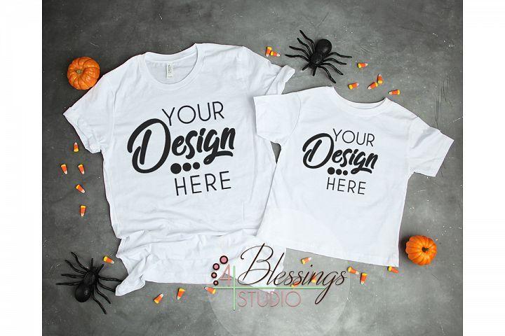 Download Halloween Mockup Tshirt White Parent Child Mockup Mom Kid F 128790 Mockups Design Bundles Parents Baby Mom Kid Clothing Mockup