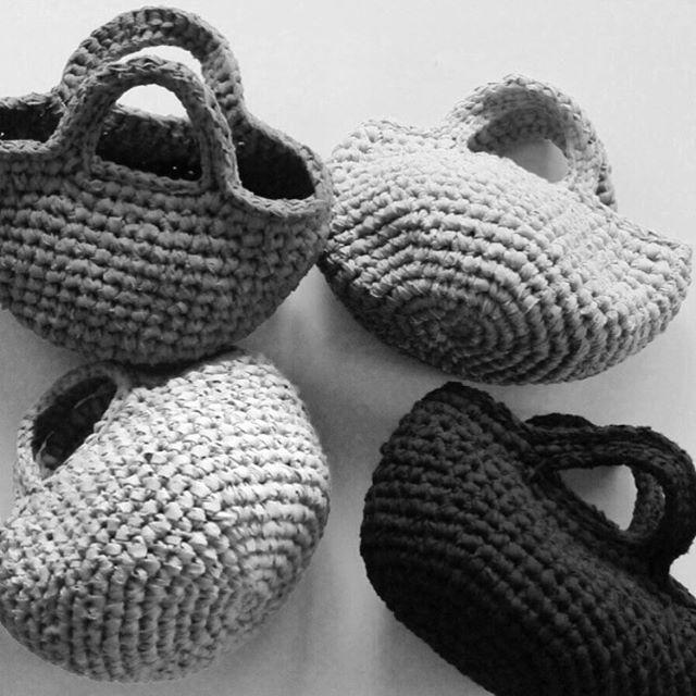 2016.10.12生成 / ecru.S bag.#KAWAMURAMIKI #河村美琴 #SAKIAMIBAG #裂き編みバッグ#Bag #バッグ #白練 #snowwhite #白
