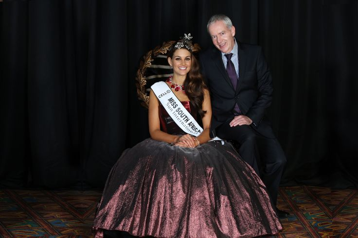 Miss SA 2014 and Howard Friedman from Jack Friedman Jewellers.  Manufacturer and designer of the Miss SA crown. jackfriedman.co.za