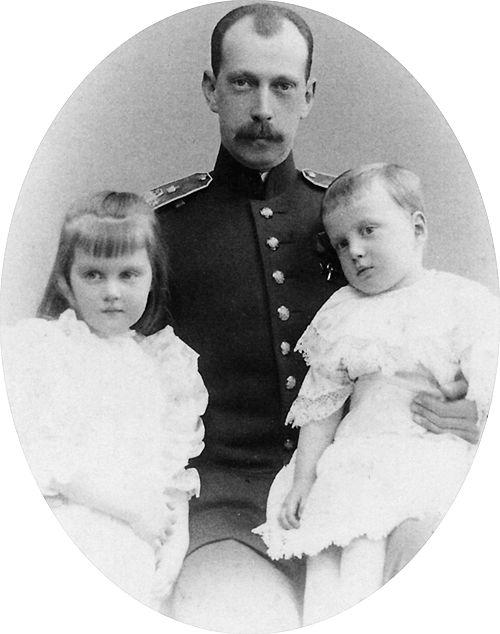 "romanovsonelastdance: ""Grand Duke Pavel Alexandrovich which his motherless children, Maria and Dmitri. """